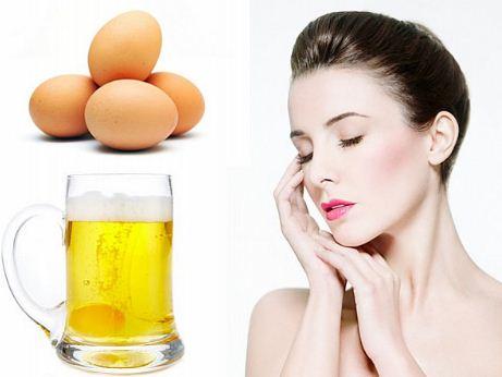 Cách làm trắng da toàn thân bằng sữa tươi không đường với bia và trứng gà